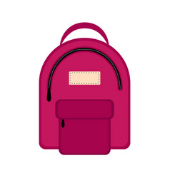 Isolated backpack icon vector