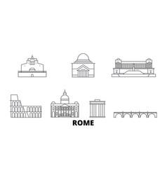 Italy rome city line travel skyline set italy vector