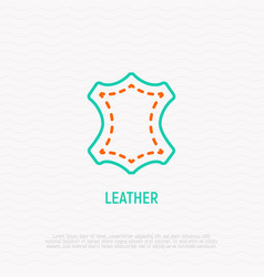 Leather thin line icon modern vector