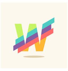Letter w logo icon design template elements vector