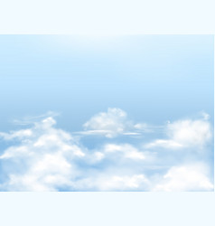 light blue sky with clouds background vector image