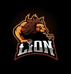 Lion gaming logo vector