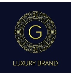 Luxury vintage frame monogram g vector