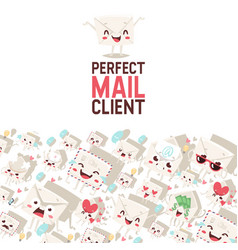 Mail envelope mailed post emoticon mailing lovely vector
