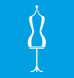 Mannequin icon white vector
