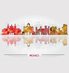Monaco city background vector