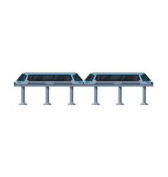 Monorail modern high speed train public vector