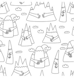Mountain hug pattern vector