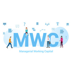 Mwc managerial working capital concept with big vector