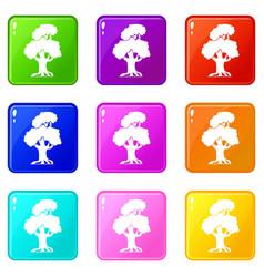 oak set 9 vector image