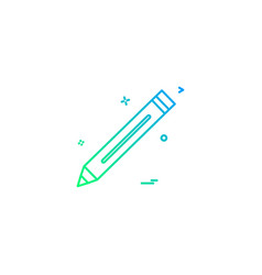 pencil pen study icon vector image