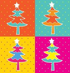 pop art christmas tree vector image