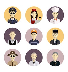 Profession icons 2 vector