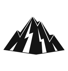 Rock icon simple style vector