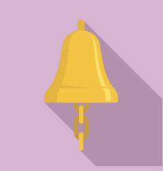 sailor bell icon flat style vector image