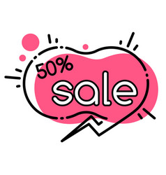 Sale with discounts promotion geometric bubble vector