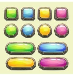 Set of cartoon buttons vector image