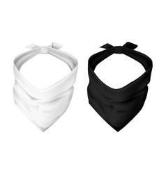set realistic face maskkerchief for head cover vector image
