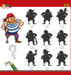 shadow game activity with pirate vector image