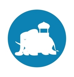 Silhouette indian elephant festival blue vector