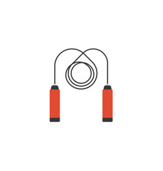 skipping rope jump icon with long swirl rope vector image