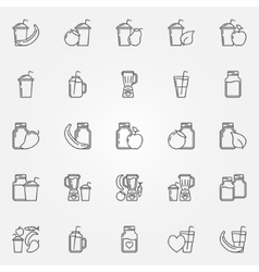 Smoothie icons set vector