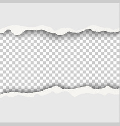 Snatched hole with torn edges in white sheet of vector