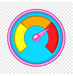 Speedometer for car icon cartoon style vector