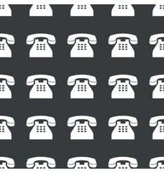 Straight black old phone pattern vector
