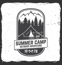 Summer camp concept for vector