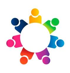 Teamwork meeting people vector