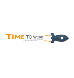 time to work time management watch flat vector image