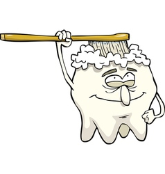 tooth brushing itself vector image
