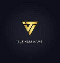 triangle company logo vector image