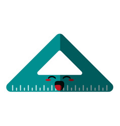 triangle ruler icon image vector image