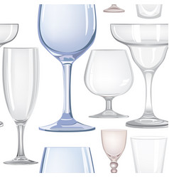 Wine glass seamless pattern drink wine background vector