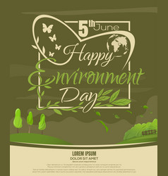 World environment day poster design 5 june vector