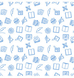 writing seamless pattern vector image