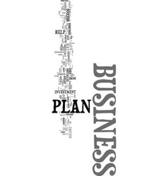 your business plan will become your partner text vector image