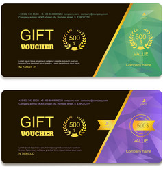 Gift voucher template with vector image vector image