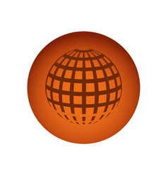 orange circular frame sphere grid world vector image vector image