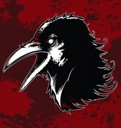 evil crow vector image vector image