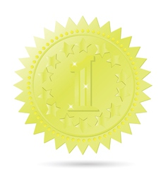 golden award emblem vector image