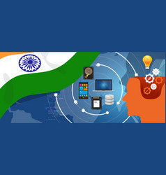 india it information technology digital vector image vector image