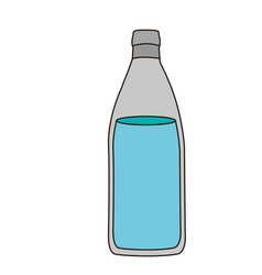 light coloured silhouette with bottle of water vector image