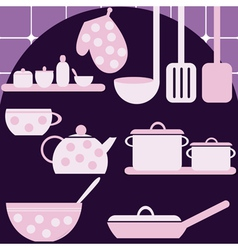 Set of kitchen appliances vector image