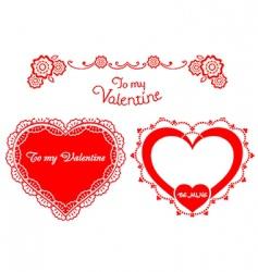 valentine retro hearts vector image vector image