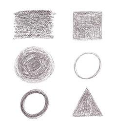 Black pencil drawing vector image