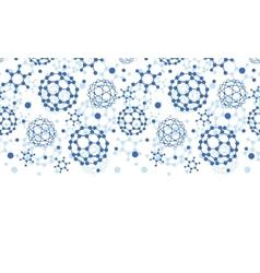 Blue molecules texture horizontal seamless pattern vector image