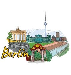 berlin doodles vector image